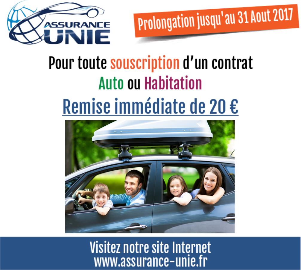 Remise immédiate de 20 € sur votre assurance Auto et votre assurance Habitation